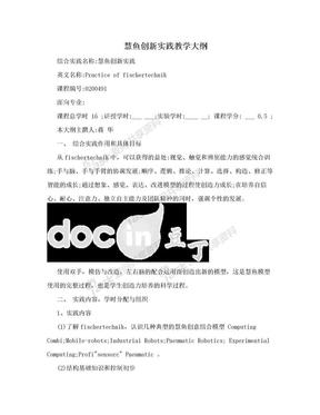 慧鱼创新实践教学大纲.doc