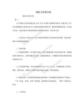 残疾人培训方案.doc
