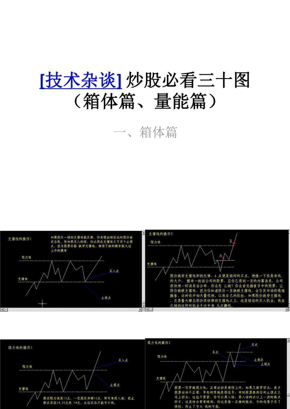 【炒股必看】炒股必看三十图(箱体篇、量能篇).ppt