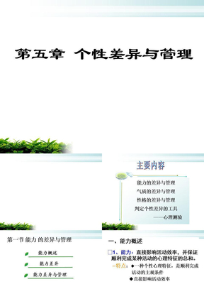 第五章_个性差异与管理.ppt