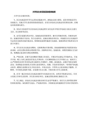 大学生社会实践活动规章制度.docx