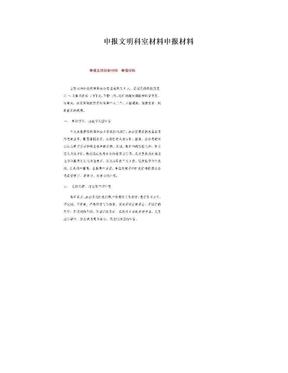 申报文明科室材料申报材料.doc