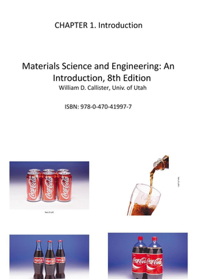 Materials Science and Engineering An Introduction,8th edition.William D. Callister .ch01.ppt
