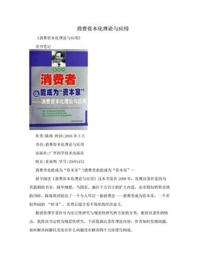 消费资本化理论与应用.doc
