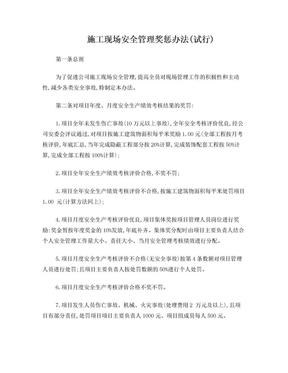 施工现场安全管理奖惩办法.doc
