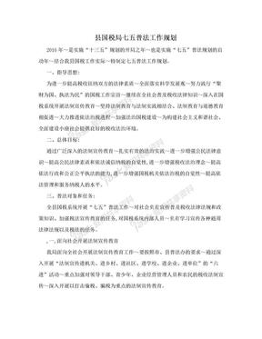县国税局七五普法工作规划.doc