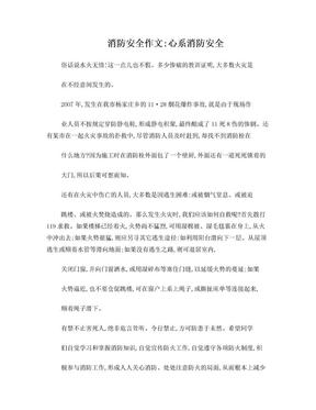 消防安全作文:心系消防安全.doc
