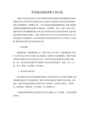 学生综合素质评价工作计划.doc