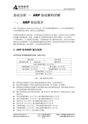 ARP协议解码详解.doc