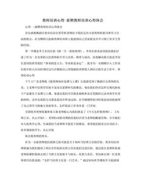 教师培训心得-新聘教师培训心得体会.doc
