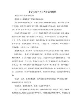 小学生汉字书写大赛活动总结.doc
