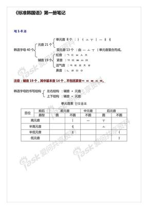 标准韩国语笔记_第1册_文字重排版_精排版.pdf