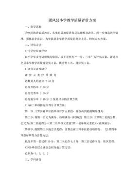 团风县小学教学质量评价方案.doc
