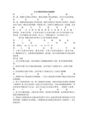 公司考勤管理制度实施细则.doc
