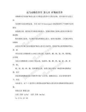 反刍动物营养学  第七章 矿物质营养.doc