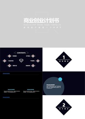 高端大气商业计划书ppt模板(3)