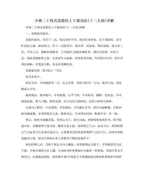 少林二十四式易筋经上下部功法(十二大劲)详解.doc