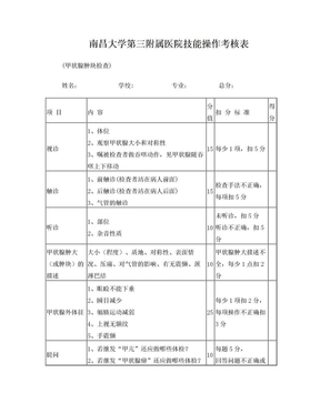 9甲状腺检查评分表.doc