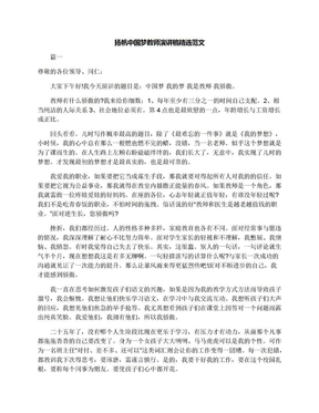 扬帆中国梦教师演讲稿精选范文.docx