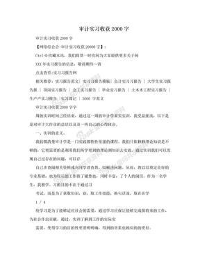 审计实习收获2000字 .doc