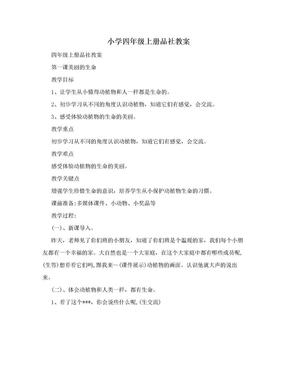 小学四年级上册品社教案.doc