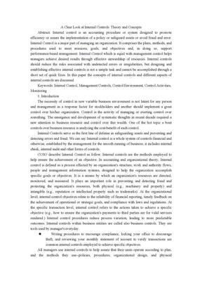 与内部控制论文相关的外文文献.doc