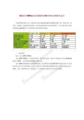 4款安卓Office办公类软件评测:中外办公软件大乱斗.doc