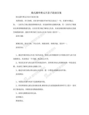 幼儿园中班元旦亲子活动方案.doc