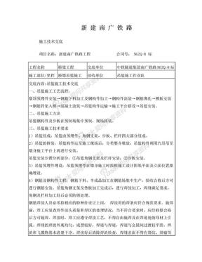 高铁桥墩吊篮施工技术交底.doc