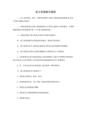 重大事故报告制度.doc