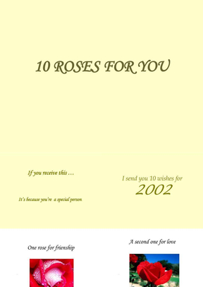 10 Roses for you  献给你的10朵玫瑰.ppt