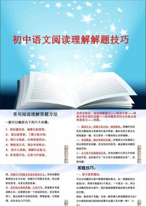 初中语文阅读理解解题技巧.ppt