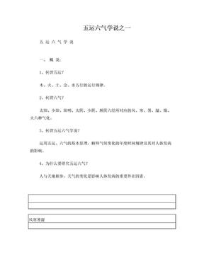 五运六气学说.doc