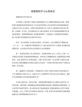暑假教师学习心得体会.doc