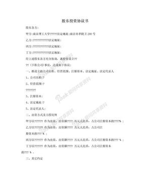 股东投资协议书.doc