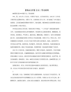 【精品文档】公安二等功材料.doc