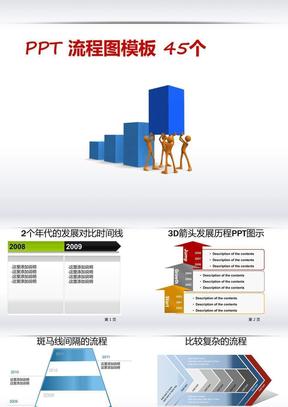 PPT流程图模板45个.ppt