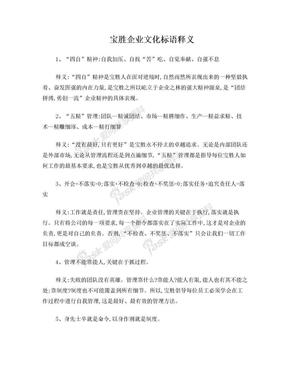 宝胜企业文化标语释义.doc