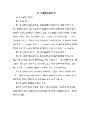 公司内部审计制度.doc