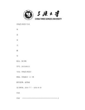 环境艺术设计实习报告.doc