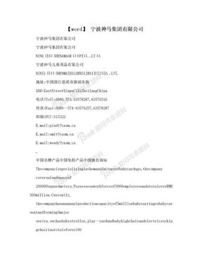 【word】 宁波神马集团有限公司.doc
