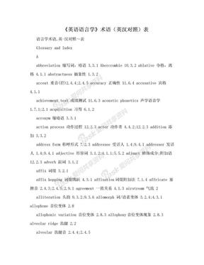 《英语语言学》术语(英汉对照)表.doc
