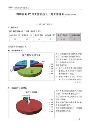 12月工作总结及1月工作计划(1).docx