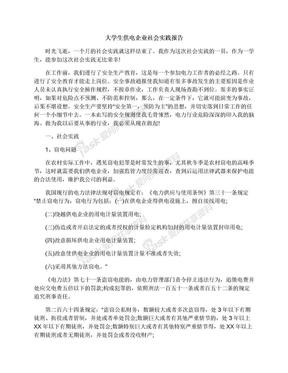 大学生供电企业社会实践报告.docx