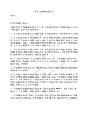 矿井贯通测量管理办法.docx