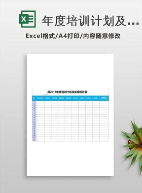 年度培训计划及实施统计表.xls