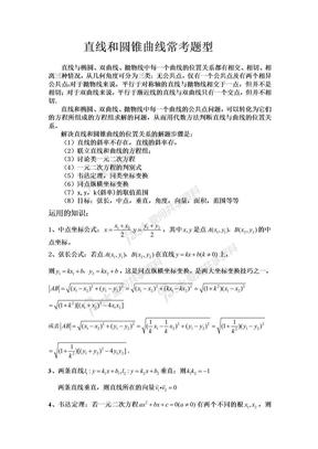 高考数学必考直线和圆锥曲线经典题型_含详解.doc