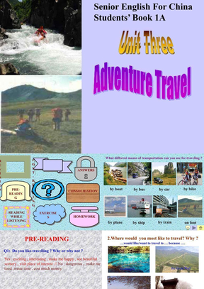 人教版高一英语课件unit3 adverture travel.ppt