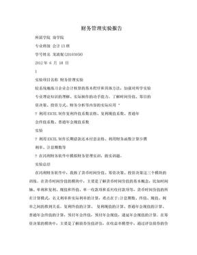 财务管理实验报告.doc
