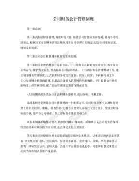 公司财务会计管理制度.doc